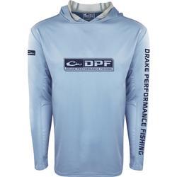 DRAKE DPF SHIELD LIGHTWEIGHT PERFORMANCE HOODIE LIGHT_BLUE
