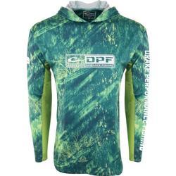 DRAKE DPF SHIELD LIGHTWEIGHT PERFORMANCE HOODIE RT_DORADO/LIME
