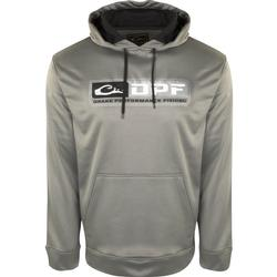 DRAKE PERFORMANCE FISHING HOODIE GRAY/BLACK