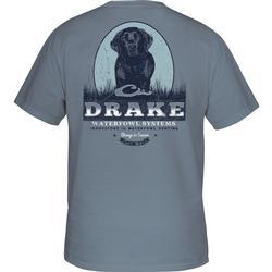 DRAKE BLACK LAB PORTRAIT S/S T BLUE_JEAN