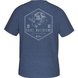 DRAKE IN-THE-ZONE BLACK LAB S/S T CHINA_BLUE_HEATHER