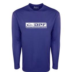 DRAKE DPF PERFORMANCE CREW L/S SHIRT DAZZLING_BLUE