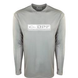 DRAKE DPF PERFORMANCE CREW L/S SHIRT GHOST_GRAY