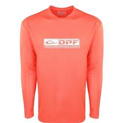 DRAKE DPF PERFORMANCE CREW L/S SHIRT SUGAR_CORAL