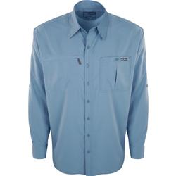 DRAKE DPF FLYWEIGHT 2.0 L/S SHIRT LIGHT_BLUE