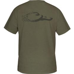DRAKE DUCK LOGO T S/S MILITARY_HEATHER