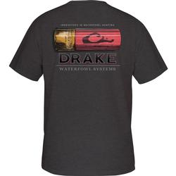 DRAKE SHOTSHELL T S/S CHARCOAL_HEATHER