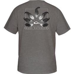 DRAKE TAIL FEATHER T S/S GRAPHITE_HEATHER