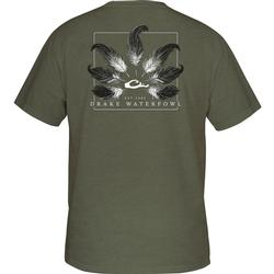 DRAKE TAIL FEATHER T S/S MILITARY_HEATHER