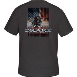 DRAKE CHARGING PATRIOT T S/S CHARCOAL_HEATHER