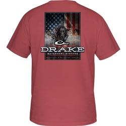 DRAKE CHARGING PATRIOT T S/S VINTAGE_RED