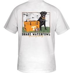 DRAKE TENNESSEE BLACK LAB TAILGATE S/S TEE WHITE