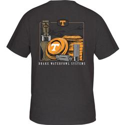 DRAKE TENNESSEE CLAY AND CALL S/S TEE CHARCOAL_HEATHER