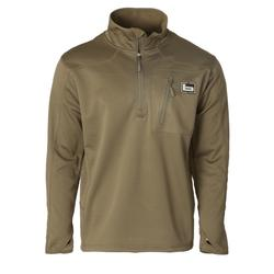 BANDED 1/4 ZIP MID LAYER FLEECE PULLOVER SPANISH_MOSS