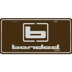 BANDED LICENSE PLATE BROWN/WHITE