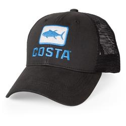 COSTA TUNA LOGO TRUCKER HAT BLACK