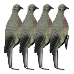 LUCKY DUCK  CLIP ON DOVES W/ STAKE 4PK