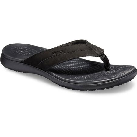 CROCS SANTA CRUZ LEATHER FLIP