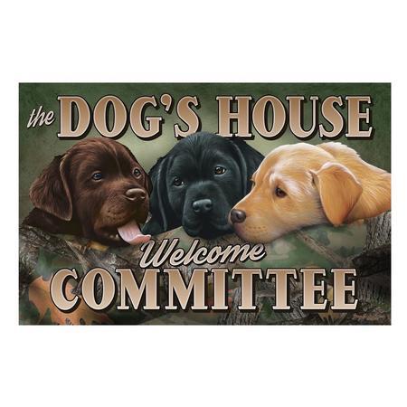 RIVER`S EDGE DOGS HOUSE RUBBER DOOR MAT