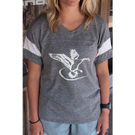FLIGHT LOGO ALTERNATIVE ECO-JERSEY POWDER PUFF V-NECK TEE
