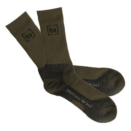 BANDED WOOL MIDWEIGHT CALF SOCK