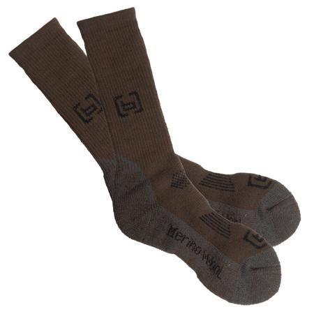 BANDED WOOL HEAVYWEIGHT CALF SOCK