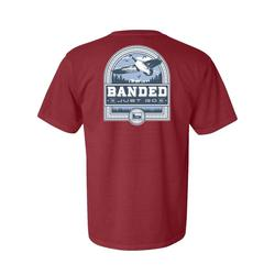 BANDED GOOSE BADGE S/S TEE BRICK