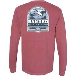 BANDED GOOSE BADGE L/S TEE BRICK