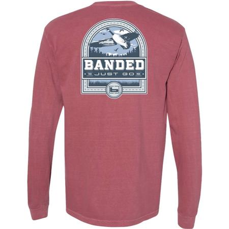 BANDED GOOSE BADGE L/S TEE