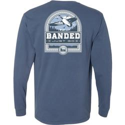 BANDED GOOSE BADGE L/S TEE MIDNIGHT