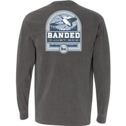 BANDED GOOSE BADGE L/S TEE PEPPER