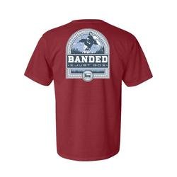BANDED DUCK BADGE S/S TEE BRICK