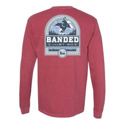 BANDED DUCK BADGE L/S TEE BRICK