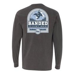 BANDED DUCK BADGE L/S TEE PEPPER