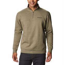 COLUMBIA HART MOUNTAIN II HALF ZIP STONE_GREEN_HEATHER