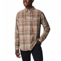 COLUMBIA FLARE GUN CORDUROY SHIRT ANCIENT_FOSSIL