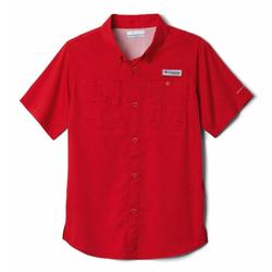 COLUMBIA YOUTH TAMIAMI S/S RED_SPARK