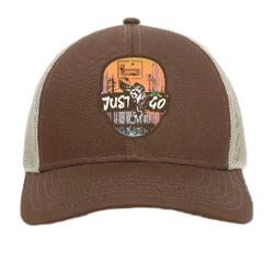 BANDED JUST GO PATCH CAP BROWN/KHAKI