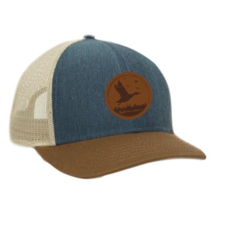 BANDED LEATHER DUCK PATCH CAP