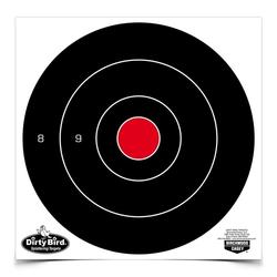DIRTY BIRD MULTI-COLOR 8`` BULLS EYE TARGET 8PK