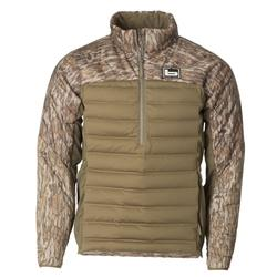 BANDED ASPIRE MID-LAYER PULLOVER BOTTOMLAND