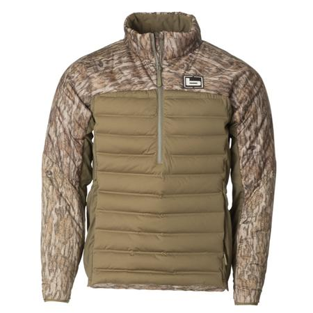 BANDED ASPIRE MID-LAYER PULLOVER