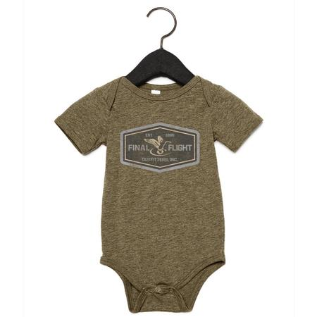 FINAL FLIGHT BABY GOOSE LOGO ONESIE