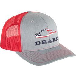 DRAKE AMERICANA CAP HEATHER_GREY/RED
