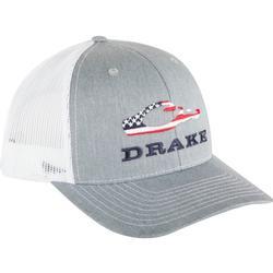 DRAKE AMERICANA CAP HEATHER_GREY/WHITE