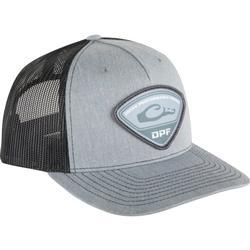 DRAKE DPF RICHARDSON TRI-PATCH CAP HEATHER_GREY/BLACK