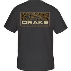 DRAKE OLD SCHOOL BAR S/S T CHARCOAL_HEATHER
