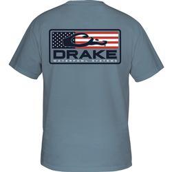 DRAKE PATRIOTIC BAR S/S T BLUE_JEAN