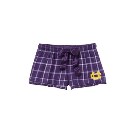 GIRLS BOXERCRAFT FLANNEL VIP SHORT WITH UC TRANSFER