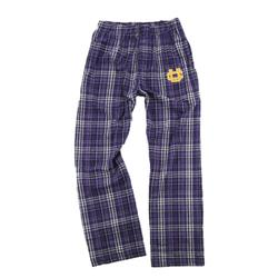 ADULT BOXERCRAFT FLANNEL PANTS WITH TRANSFER PURPLE/GREY